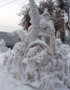 Как создать снежную скульптуру?