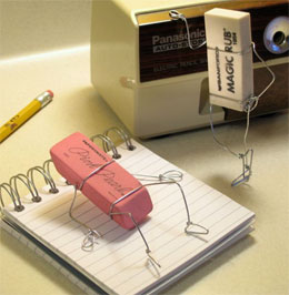 Как ластик стирает написанное?