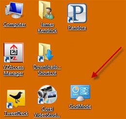 Как включить Режим Бога в Windows 7?