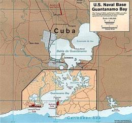 Где находится военно-морская база США Гуантанамо?